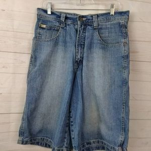 South Pole Light Wash Baggy Jean Shorts 32